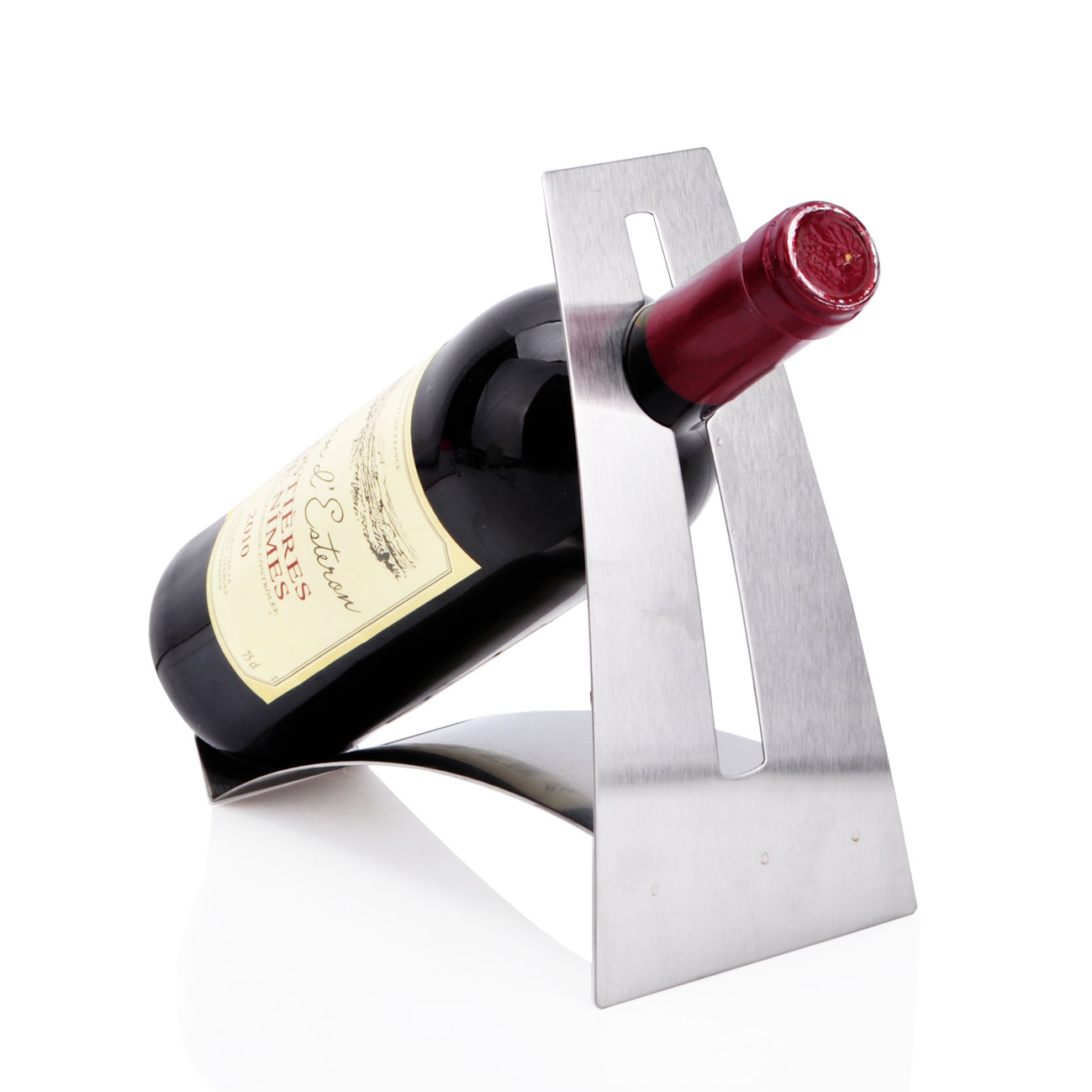 Free shipping stainless steel bending shape simple wine rack wine rack wine rack creative european wine rack decoration