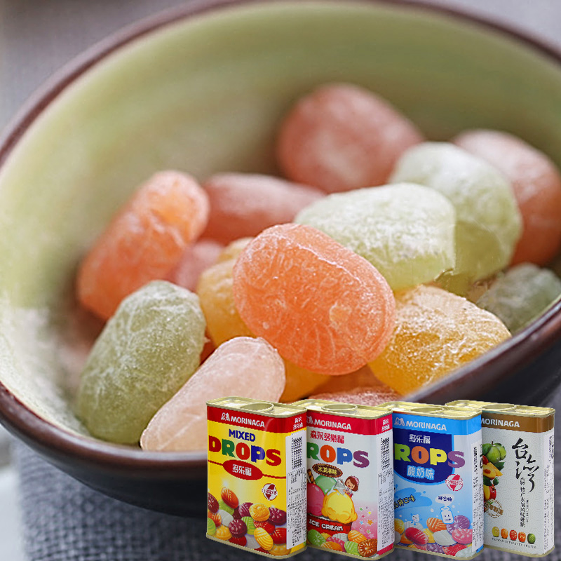 Free shipping taiwan imported morinaga more carrefour fruit sugar drops candy candy candy zero food boxed 180g