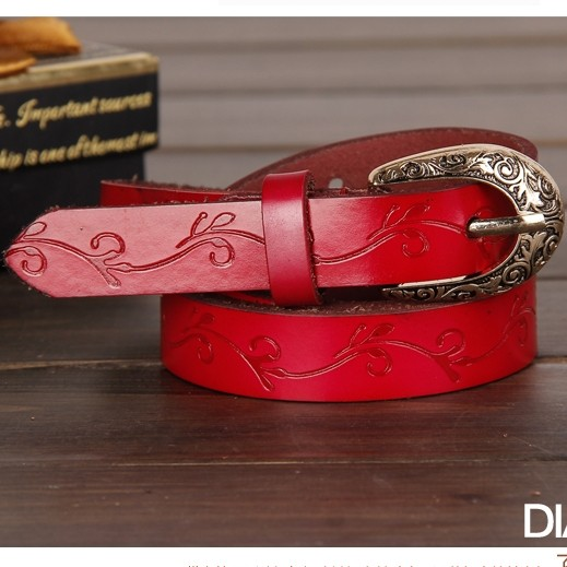 Free shipping thousands of pretty free shipping carved retro leather belt belt female models wild leather belt female pin buckle leather belt knotted fine embossing