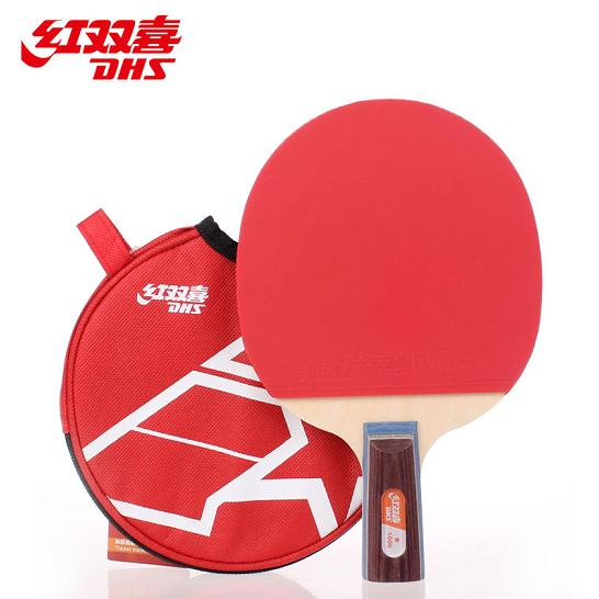 Free shipping to send the ball dhs a star table tennis racket tennis racket 1006 1002 table tennis racket tennis racket finished shooting straight horizontal entertained