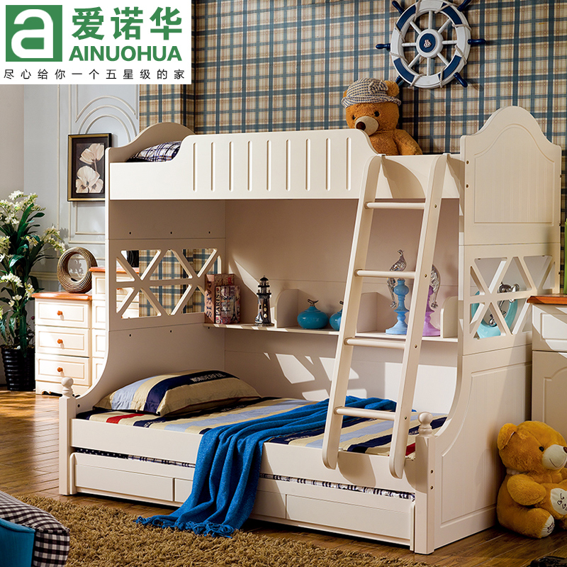 Free shipping wood bed children bed picture bed bunk bed bunk bed mother and child bed bunk bed wood bed picture bed bed bunk beds up and down