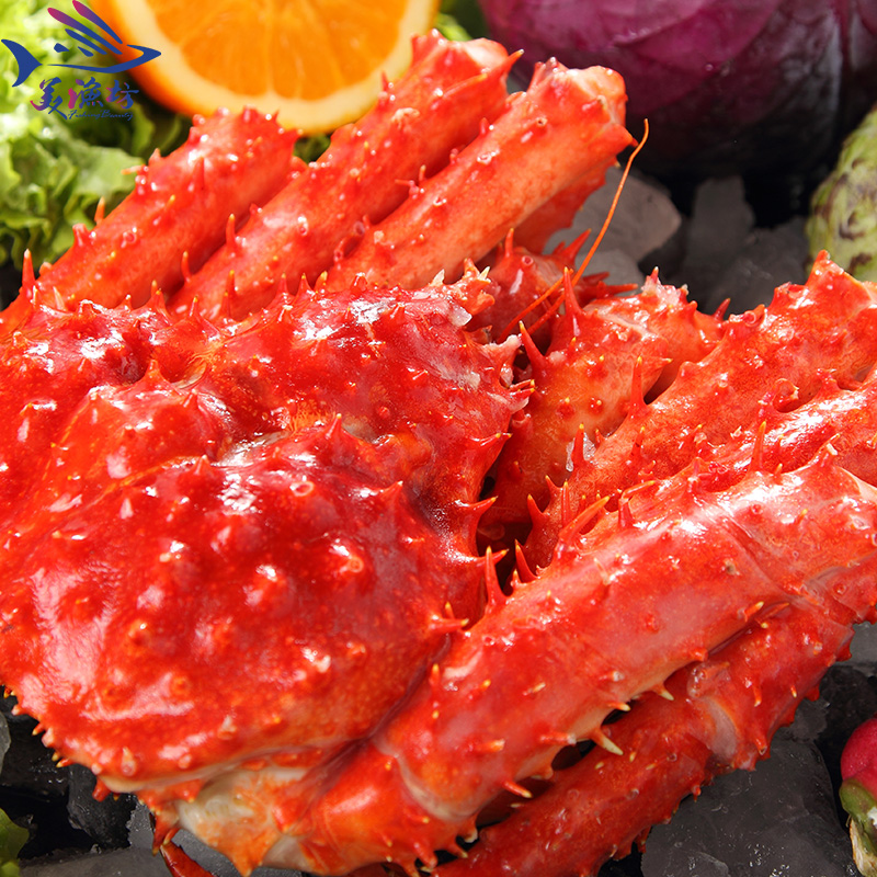 Fresh green] [meow fresh cooked frozen king crab chile 4.5-5.5 of frozen king crab imports of shipping Seafood