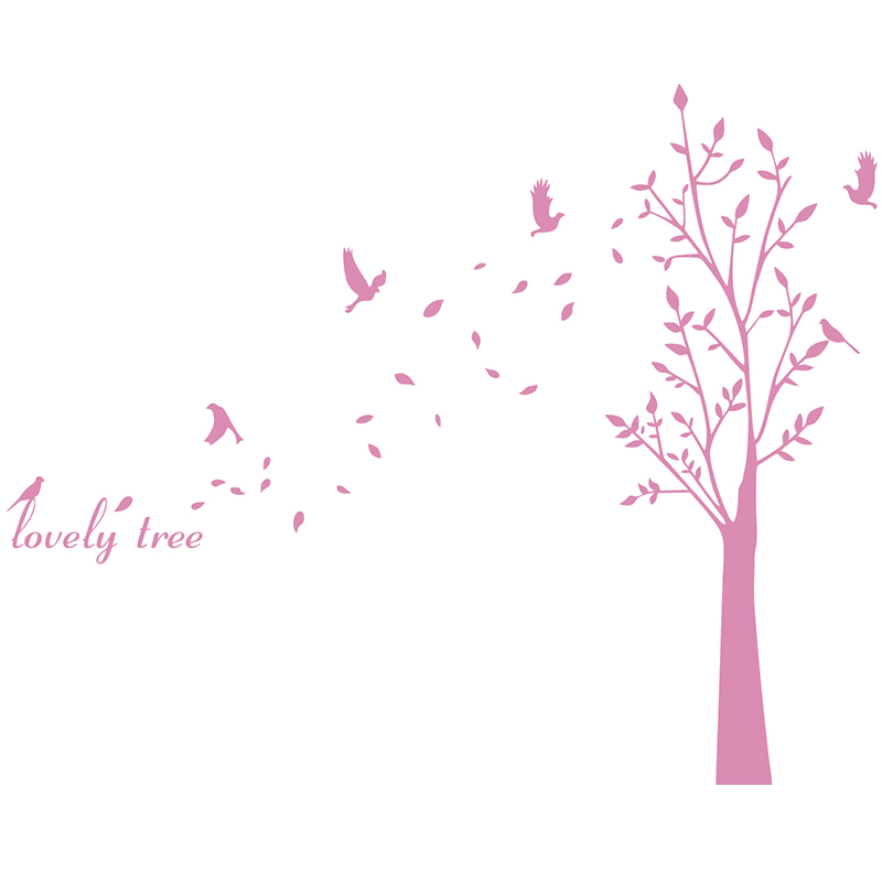 Fresh tree stickers romantic love tree removable wall stickers living room bedroom sofa background wall decoration