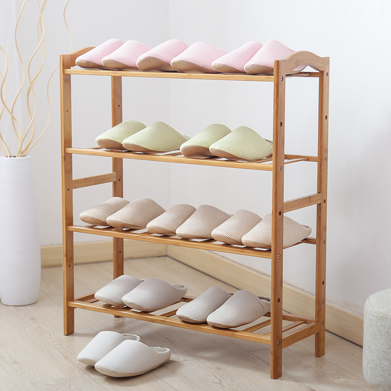 Freya multilayer wood dust shoe shoe rack simple bamboo shoe rack bar special thick glove storage rack dormitory