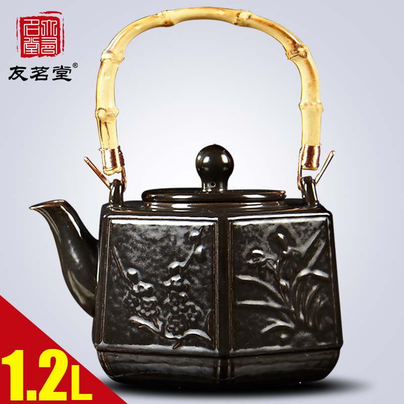 Friends of the ming tong tea ceramic teapot boiling kettle boiling teapot boiling teapot electric ceramic furnace for household without Coating