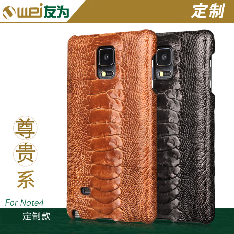 Friends of the samsung mobile phone sets note4 note5 ostrich foot leather holster phone shell mobile phone shell holster commerce