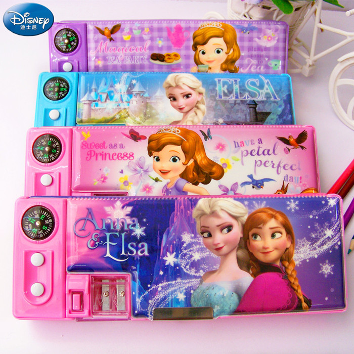 Frozen authentic disney princess sophia can korean version of multifunctional pencil case stationery student stationery