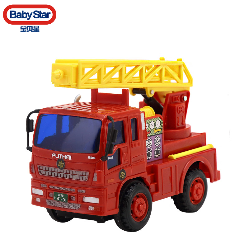 FT6109 baby star truck series fire police car fire truck ladder truck inertial car baby toy car