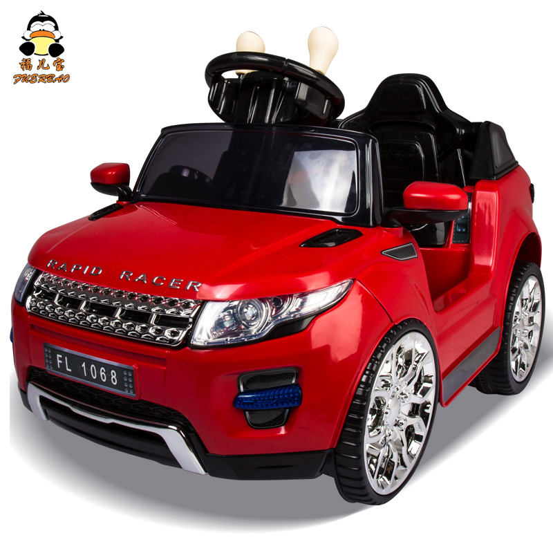Fu bao child children electric car land rover wali car baby four children electric car stroller toy car shock absorbers