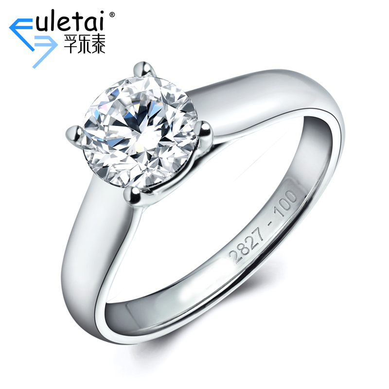 Fu loctite pt900 platinum counter genuine women's single diamond ring carat diamond ring setting custom ring care care