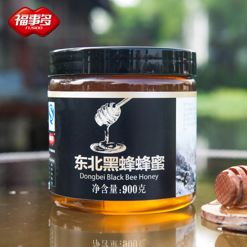 Fu something more northeast black bee honey 900g bee products
