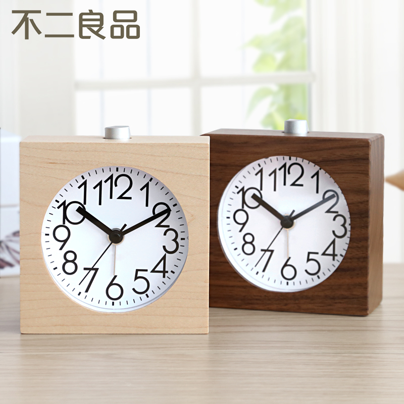 Fuji ichiban small bedroom bedside alarm clock creative mute luminous lazy snooze alarm clock table clock fashion personality student