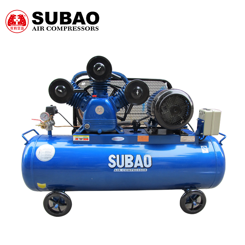 Fujian shuangbao w-0.9/7 air compressor air pump 7.5kw air compressor all copper electric machine triplex pump