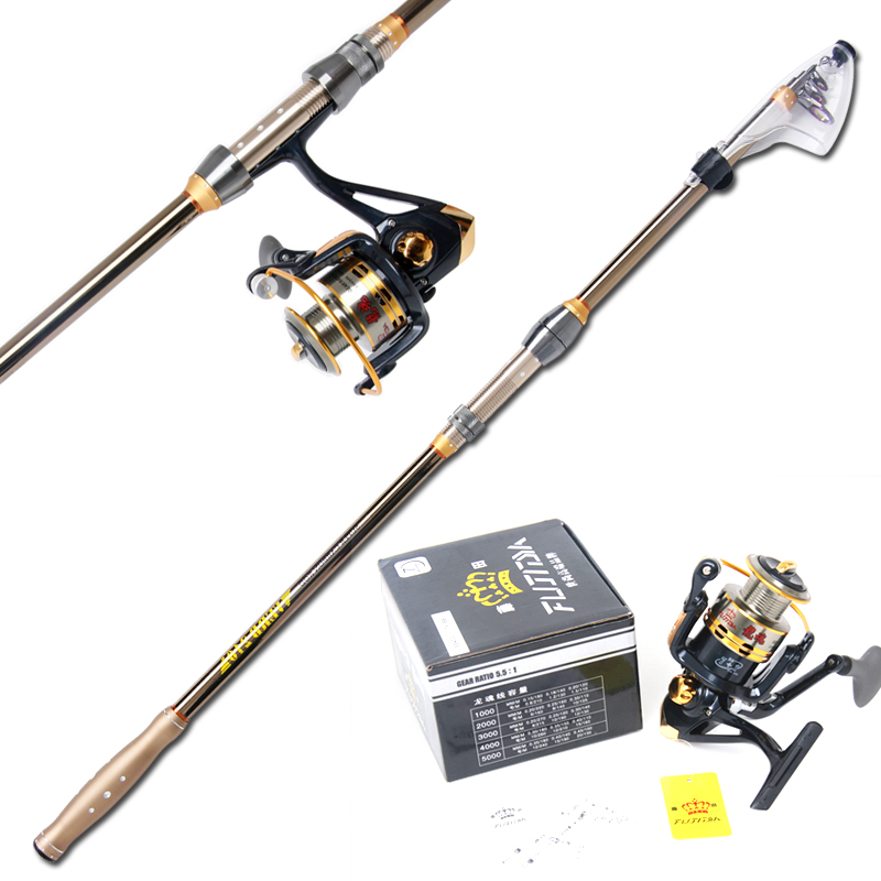 Fujita 2.1 2.4 2.7 3.6 m superhard carbon fishing rod sea rod far tougan throw pole fishing gear suit