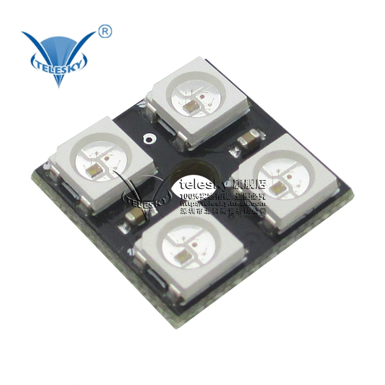 Full color led module color WS2812B-4 who drive 4 lights rgb full color led module