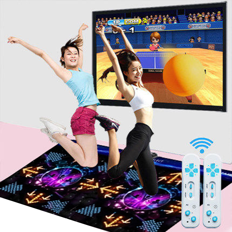 Full line of 3d dual double thick blanket dance dancing somatosensory tv dance dance machine free shipping