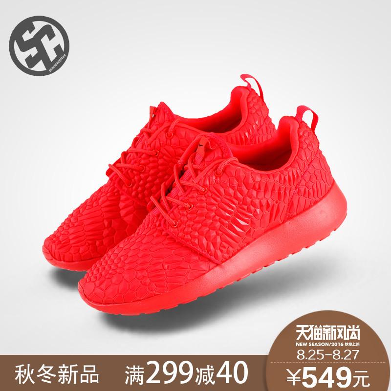 f00c20c7735e1 Get Quotations · Full red serpentine issey miyake one nike nike roshe run  running shoes 807460-600