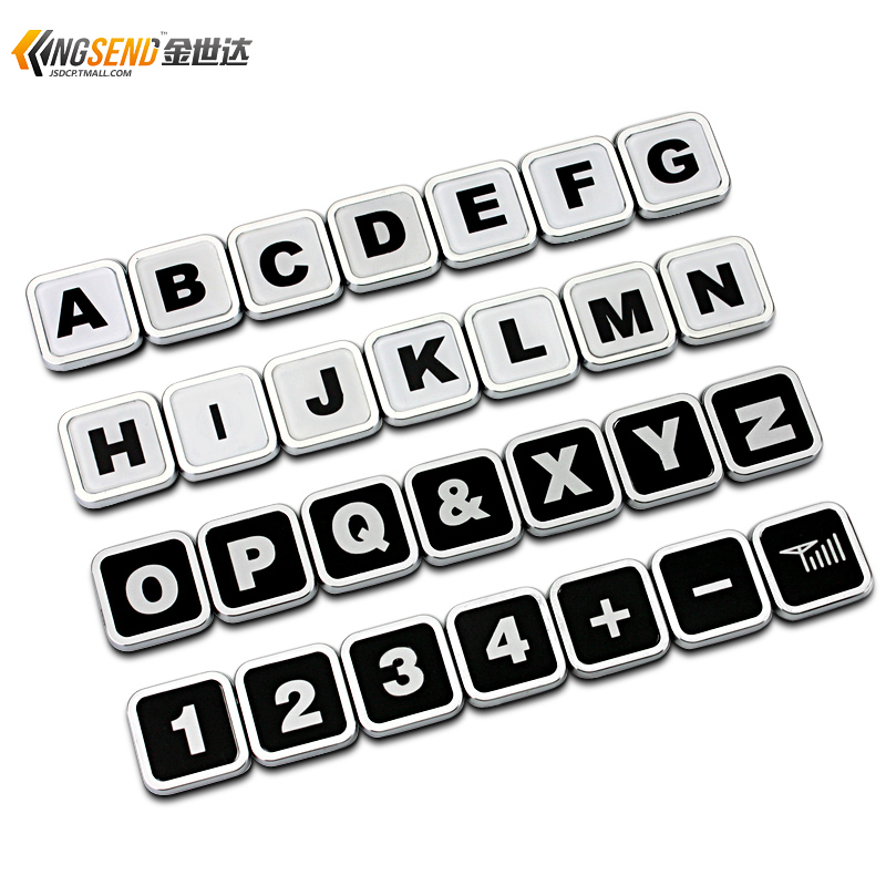 Fun mini personality funny car stickers car standard english alphabet digital car stickers car stickers modified standard