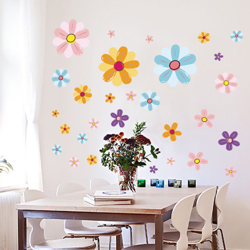 Furniture wall stickers sticker romantic living room tv background wall flower wall stickers romantic wedding room bedroom