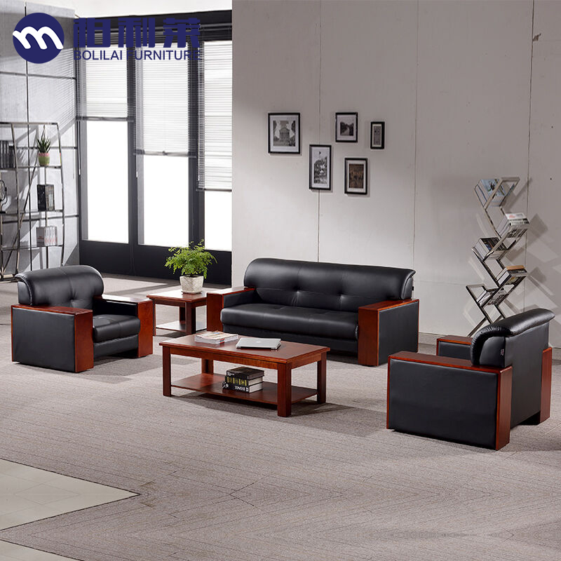 Fuzhou office furniture office sofa parlor sofa office sofa minimalist modern business room coffee table combination