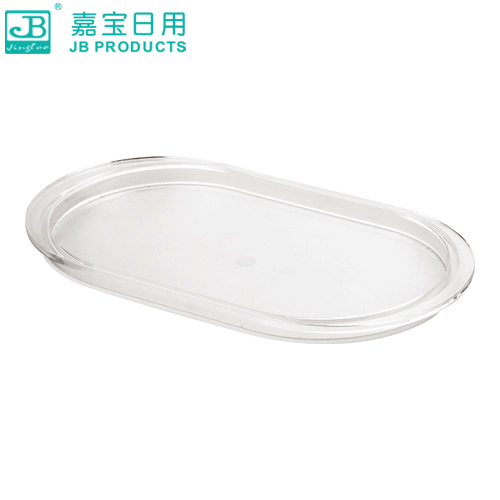 Garbo acrylic pedestal oval dish seasoning condiment bottles seasoning tray compartment tray