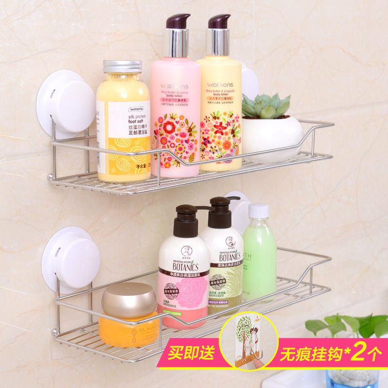 Garbo sucker bathroom shelving racks stainless steel kitchen shelf bathroom toilet shelving racks wall suction