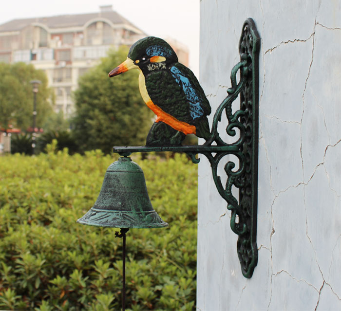 Ge jia rui seoul cast iron crafts continental iron hand bell large kingfisher doorbeil wall decorative wall hangings decorative wall