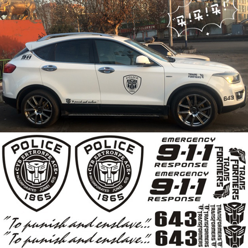Geely imperial rs 831 body modification garland transformers door scratches decorative stickers 911 automotive beauty