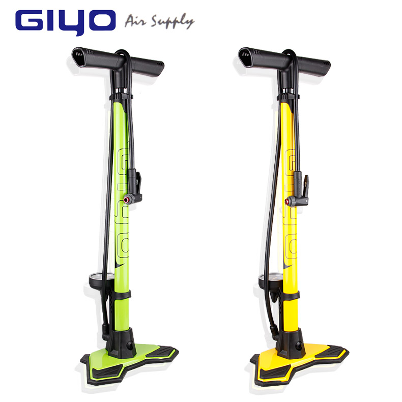 Genuine bicycle floor vertical pump giyo household high pressure pump with pressure gauge GF-6325