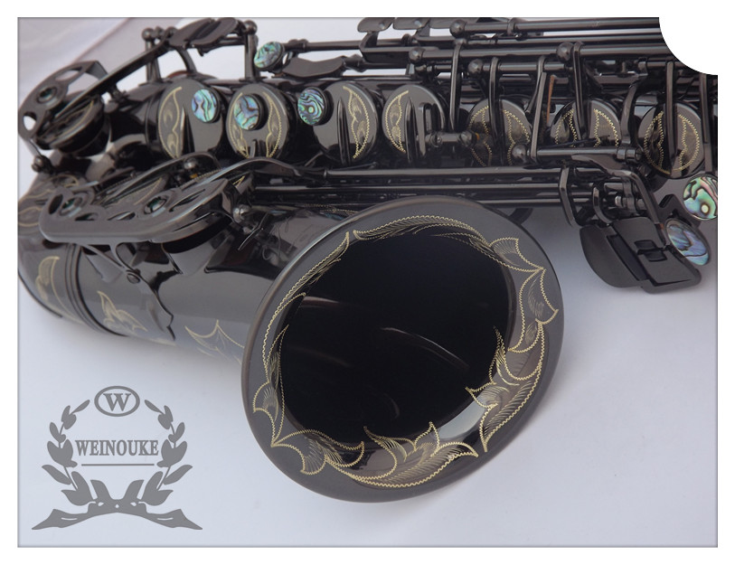 Genuine black nickel WAS-R54 saxophone e flat alto saxophone sax musical instrument of the black pearl