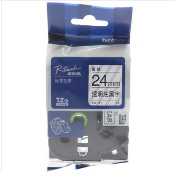 Genuine: brother brother label printer ribbon tze-151 (transparent bottom black) width 24mm