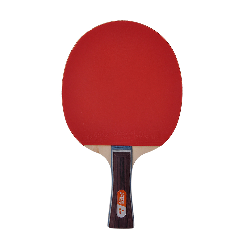 Genuine dhs table tennis table tennis racket dhs a star 1002 sided plastic tennis racket to send the finished film sets