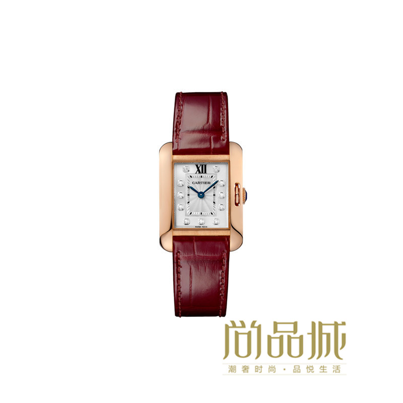 Genuine direct mail 2016 of the new cartier cartier tank genuine leather watch ladies watches WJTA0007