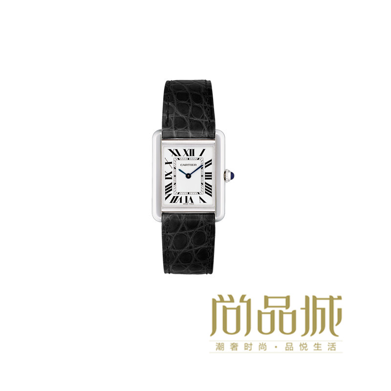 Genuine direct mail 2016 of the new cartier cartier tank leather ladies watches watch w5200005