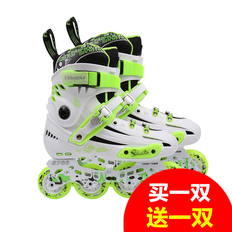 Genuine hua xie ping single row of fancy skates skates skates roller skates adult skates adult skates skate shoes for men and women