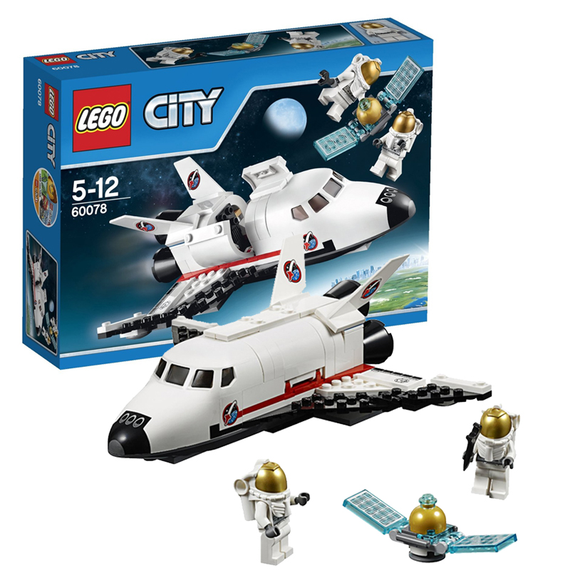 Genuine lego/lego building blocks assembled children's educational toy city series multifunction can shuttlecraft 60078