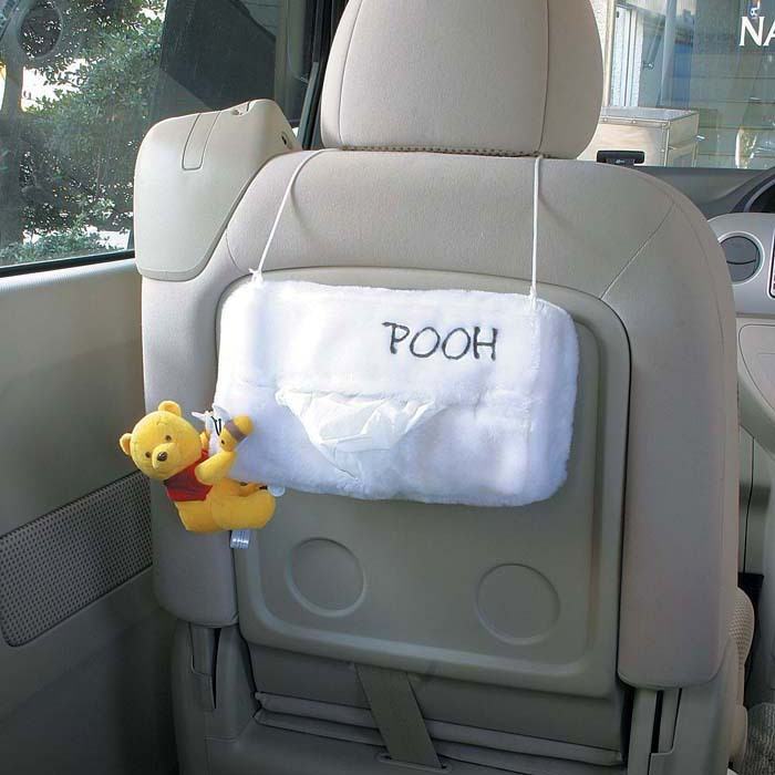 Genuine napolex pooh car back hanging tissue box cover cartoon cute car pumping tray sets
