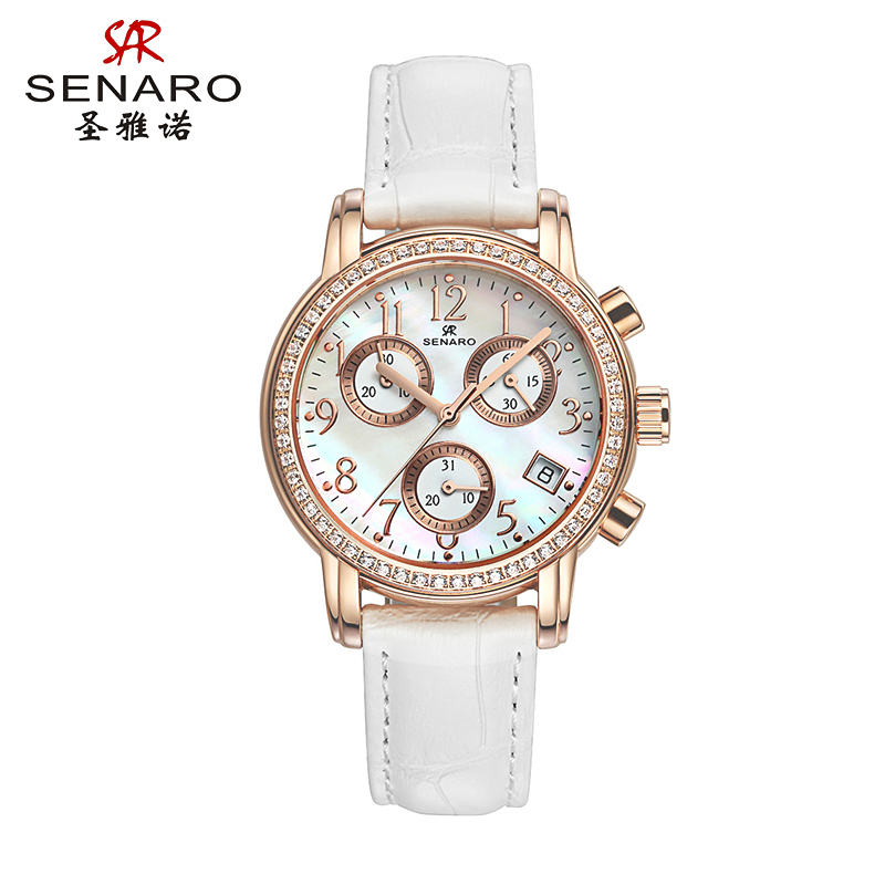 圣雅诺genuine new fashion trend ladies watches leather belt watch watches personalized watches quartz watch 3006
