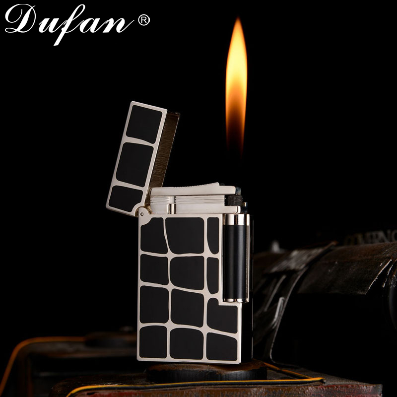 Genuine original dufan broke lighters vatican men's personality thin section maddened arenaceous wheel lighter fashion business