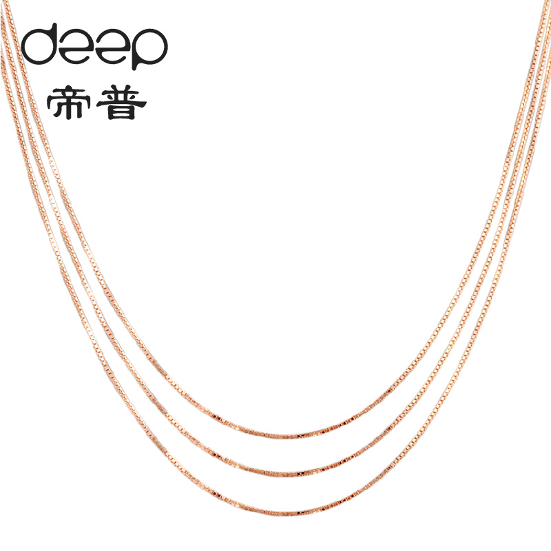 Genuine rose gold necklace female clavicle chain yi gu 18k-color gold necklace short section of south korean simple and does not fade