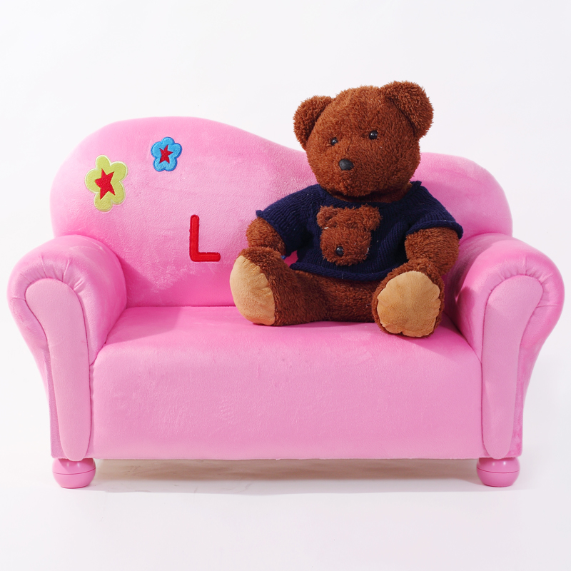 Genuine special children's sofa young folks adorable baby embroidery kindergarten princess sha hair sofa sofa chair