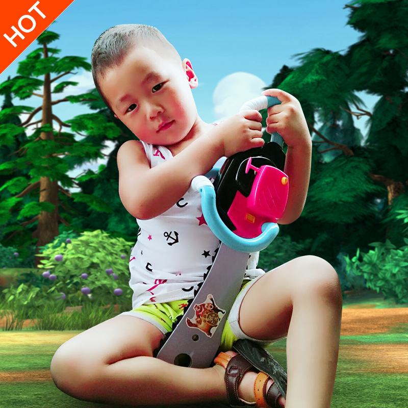 Genuine us lego chainsaw bear spotted bald strong suit children's toys this saw baby sound and light electric toy