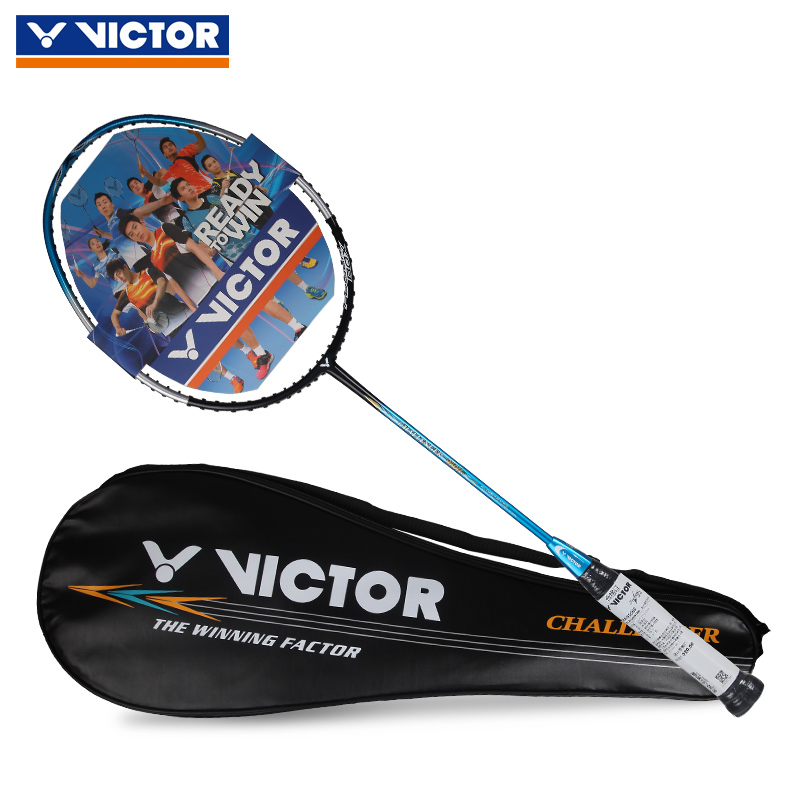 Genuine victory victor challenger badminton rackets single shot full carbon ultralight carbon fiber dimentional 9500f