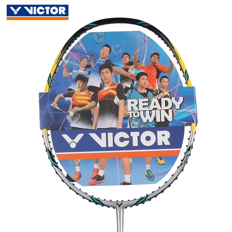 Genuine victory victor challenger badminton rackets single shot full carbon ultralight carbon fiber dimentional tk-100