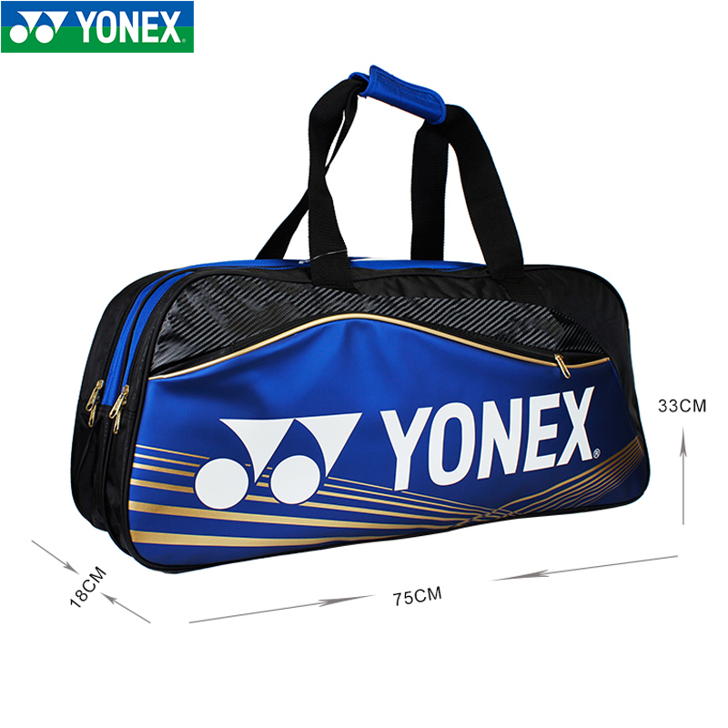 Genuine yonex badminton racket yonex racket bag shoulder bag men and women backpack sports bag handbag