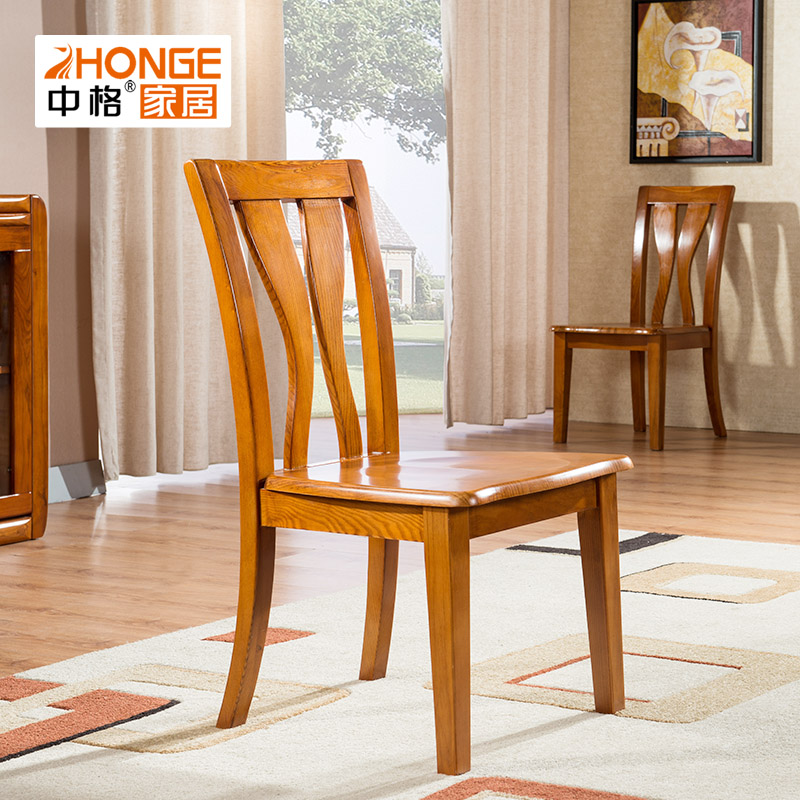Georgia minimalist modern chinese solid wood dining chair new chinese solid wood dining tables and chairs combination chair 3R003