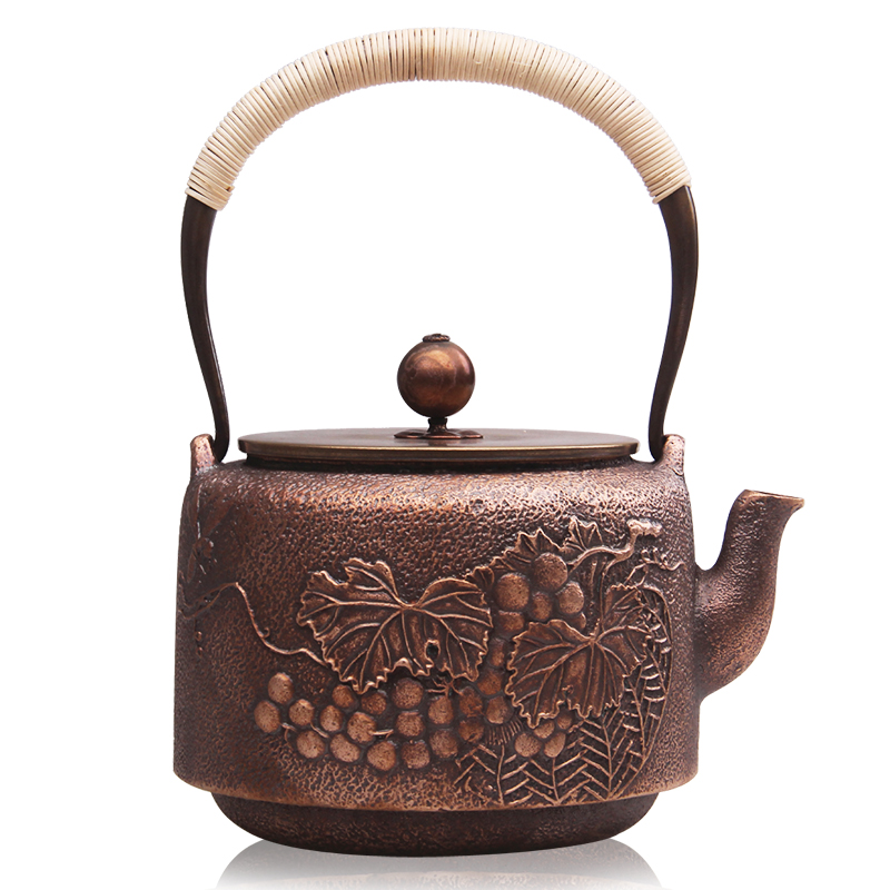 German church hill purple handmade copper kettle teapot thick copper casting copper kettles kettle japanese style antique tea