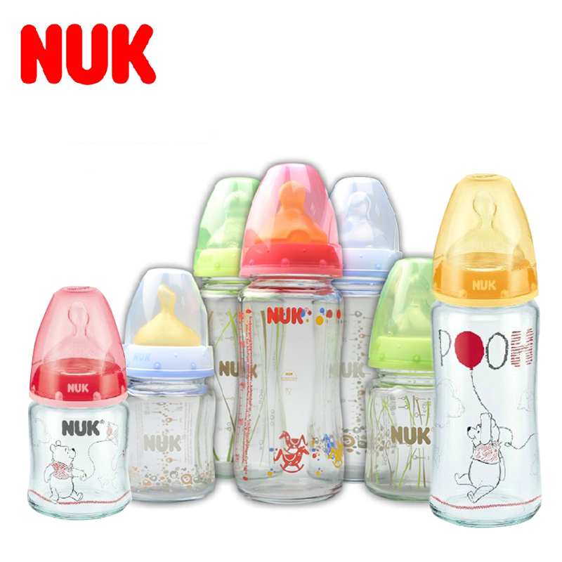 German origin nuk glass bottle/neonatal wide caliber 240 ml/120ML silicone/latex pacifiers