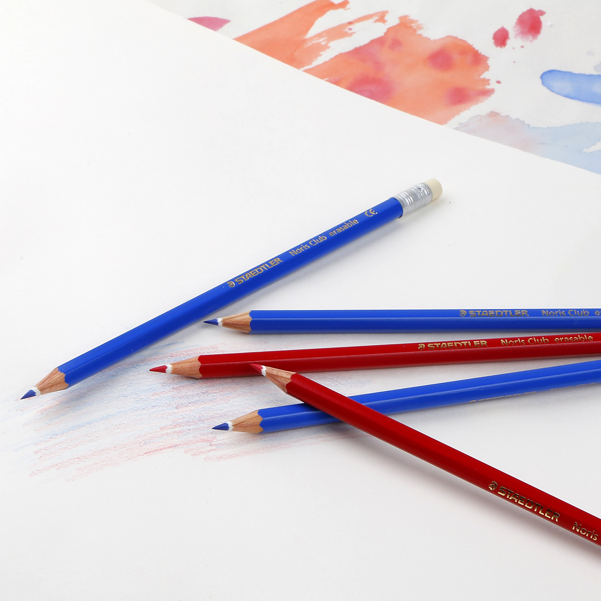 German staedtler staedtler | drawing | graffiti | anime erasable colored pencil red and blue pencil