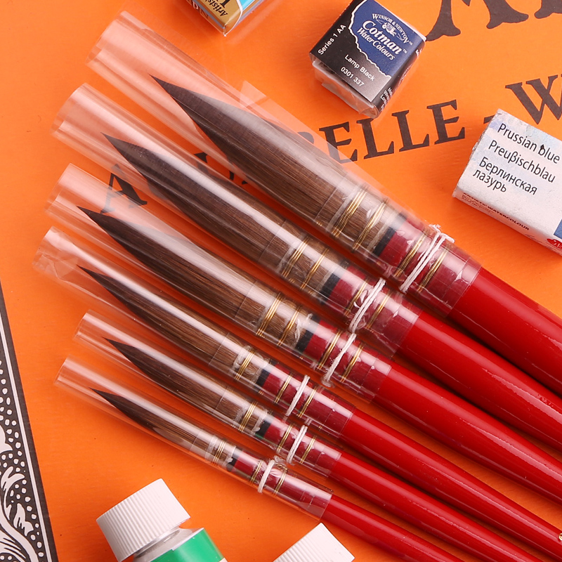 Germany da vinci da vinci v66 wild sable watercolor brush classical red lever 6 #